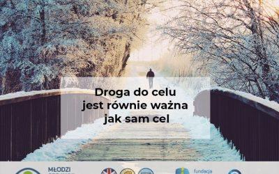 """Zaproszenie na warsztat rozwojowy dla osób z dysfunkcją wzroku """"Droga do celu jest równie ważna jak sam cel"""" – 20 stycznia 2021r. godzina 18.30"""